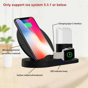 Apple 3-in-1 Wireless Fast-Charging Dock with QC3.0 Charger