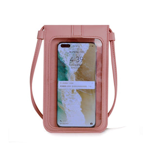 Touchscreen PU Leather Mobile Phone Purse
