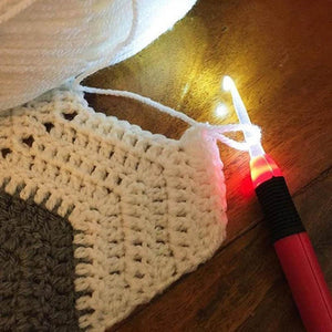 USB Rechargeable LED Lighted Crochet Hooks