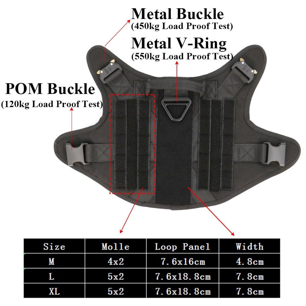 Tactical No Pull Dog Harness v2