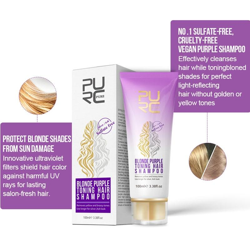 Purple Shampoo for Blonde Hair Removes Brassy Yellow Tones