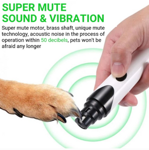 Rechargeable Painless Pet Nail Grinder