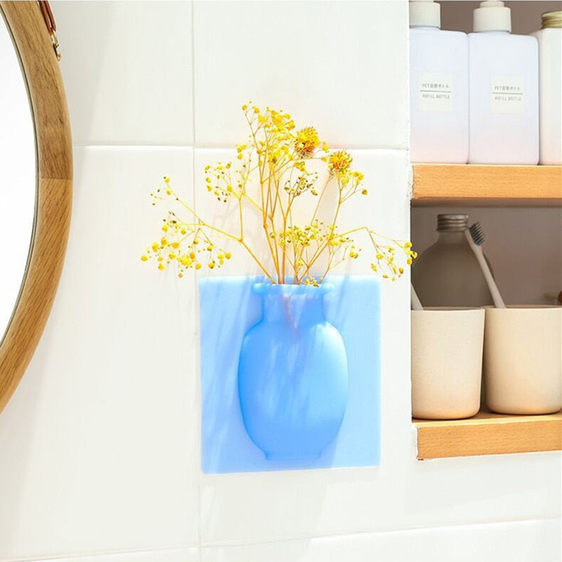 Stick-on Silicone Vase