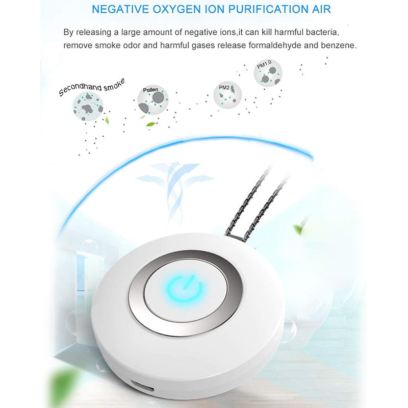 Portable Wearable Air Purifier Necklace