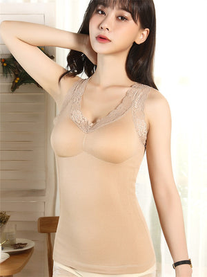Cami-Bra Thermal Lace Tank