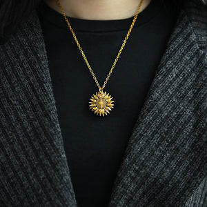 Sunflower Switched Necklace