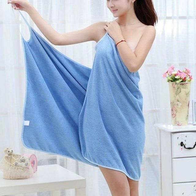 Quick Dry Towel Wrap Dress