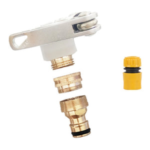 Universal 3-in-1 Brass Hose Tap Connectors Set