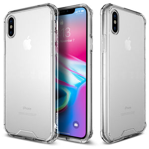 rooCASE iPhone XS Max Case, Plexis Ultra Slim and Lightweight TPU PC Cover Designed for Apple iPhone XS Max (2018), Clear