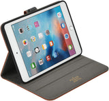 Roocase Leather Slim Fit Case for iPad Mini 4 - Folio Smart Cover - Apple Pencil Loop - Viewing Stand
