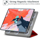 Roocase Magnetic Folio Case for iPad Pro 12.9 2018 - Smart Cover - Apple Pencil Charging - Magnetic Attachment