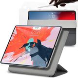 Roocase Magnetic Folio Case for iPad Pro 11 2018 - Smart Cover - Apple Pencil Charging - Magnetic Attachment