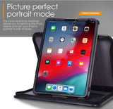 Roocase Executive Case for iPad Pro 11 2018 - Organizer Portfolio - Detachable Case - Black
