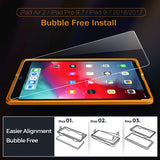 Roocase Tempered Glass Screen Protector for iPad 9.7 2018/2018, iPad Pro 9.7, iPad Air 1/2 - Installation Frame