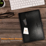 Roocase Slim-Fit Case for iPad 10.2 - Folio Smart Cover - Convenient Stand - Stylus Holder - Black