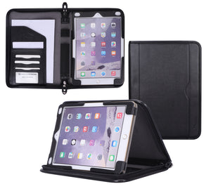 Roocase Executive Case for iPad 9.7 2018/2017 - Organizer Portfolio - Detachable Case - Black