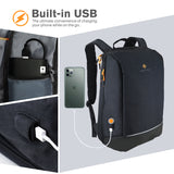 Roocase Balboa Backpack for 15.6 Laptop and Tablet - Daily Carrying Backpack - Black