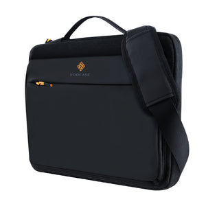Roocase Lancaster Messenger Bag for 15.6 Laptop and Tablet - Compact Shoulder Bag - Black