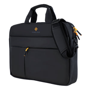 Roocase Normandie Messenger Bag for 15.6 Laptop and Tablet - Carrying Shoulder Bag - Black