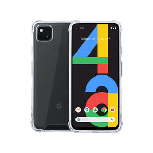 Roocase Plexis Clear Case for Google Pixel 4a, Slim Transparent Cover with TPU Bumper
