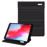Roocase Olvera iPad Sleeve with Stand for New iPad 10.2, iPad 9.7, iPad Air 10.5, iPad Pro 11, iPad Mini - Duo Tone Vegan Leather Trifold Stand with Apple Pencil Holder