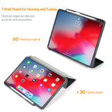 rooCASE iPad Pro 11 Case, Premium Folio Stand Case for Apple iPad Pro 11-inch 2018 [Support Apple Pencil Charging] Slim Fit PC/TPU Smart Case with Clear Back Cover, Black