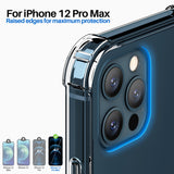 Roocase Plexis Clear Case for iPhone 12 Pro Max, 6.7 Inch, Slim Transparent Cover with TPU Bumper