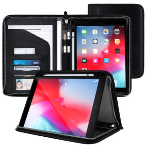 Roocase Wilshire Case - iPad Air (3rd Gen) 10.5 2019 / iPad Pro 10.5 2017 Executive Portfolio Case - Magnetic iPad Case, Organizer, Apple Pencil Holder for iPad Air 10.5 3rd Gen 2019, Black