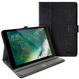 Roocase Leather Slim Fit Case for iPad Air 10.5 2019 / iPad Pro 10.5 2017 - Folio Smart Cover - Apple Pencil Loop - Viewing Stand