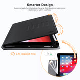 Roocase Sunset Case for iPad 10.2 2019 - Folio Smart Cover - Magnetic Case - Convenient Stand - Black