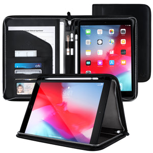 Roocase Wilshire Case - iPad 9.7 2018/2017 Executive Portfolio Case - Magnetic Detachable iPad Case, Organizer, Apple Pencil Holder for iPad 9.7 6th Gen/5th Gen, Black