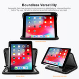 Roocase Wilshire Case for iPad 10.2 2019 - Executive Portfolio Case - Detachable Magnetic Case - Organizer - Black
