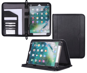 rooCASE iPad Air (3rd Gen) 10.5 2019 / iPad Pro 10.5 2017 Case, Premium Leather Executive Portfolio Case - Detachable iPad Sleeve, Organizer, Apple Pencil Holder for iPad Air 10.5 3rd Gen 2019, Black