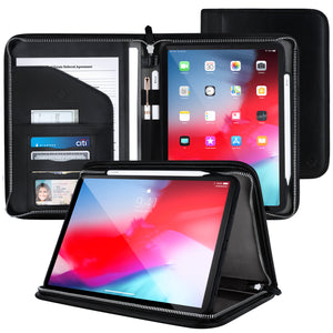 Roocase Wilshire Case - iPad Pro 11 2018 Executive Portfolio Case - Magnetic Detachable iPad Case, Organizer, Apple Pencil Holder for iPad Pro 11-inch 2018, Black