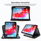 Roocase Wilshire Case for iPad Pro 11 2018  - Executive Portfolio Case - Detachable Magnetic Case - Organizer - Black