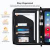 Roocase Wilshire Case for iPad Pro 12.9 3rd Gen (2018) - Executive Portfolio Case - Detachable Magnetic Case - Organizer - Black