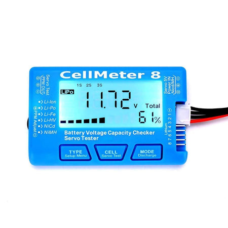 Cell Meter 8 Digital Battery Capacity Checker