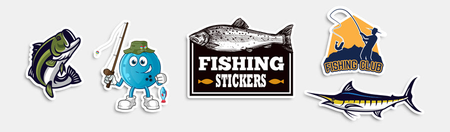 Fishing stickers are jumping out of the water and into your hands!