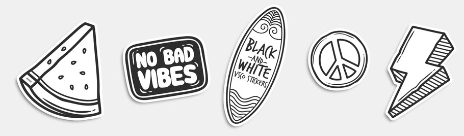 Black and White VSCO Stickers - A Timeless Aesthetic