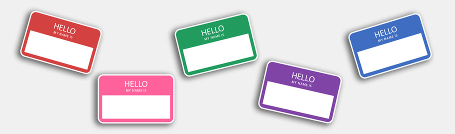 "Very Funny Personalized ""hello my name is stickers"""