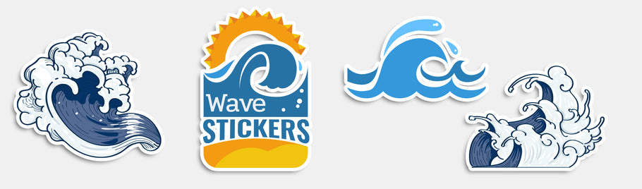 Ride The Wave With Exquisite Wave Stickers