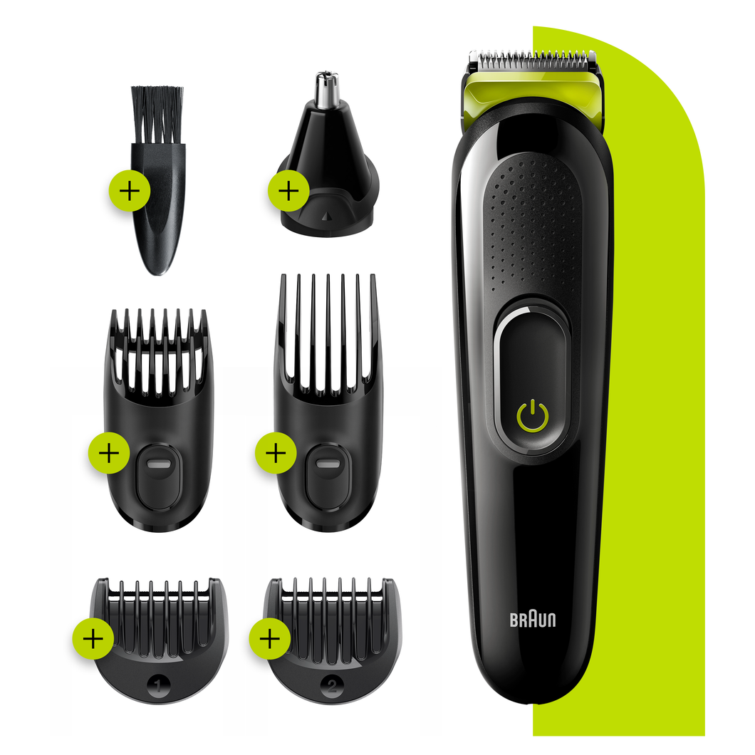 All-in-one trimmer MGK3221, 6-in-1 trimmer, 5 attachments.