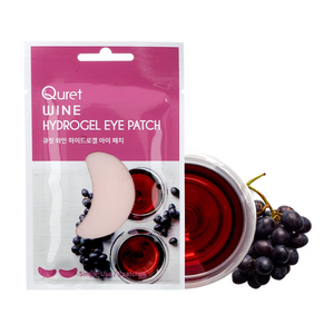 Quret Beauty Recipe Eye Patch Set (6 Pack) - Charcoal & Red Wine