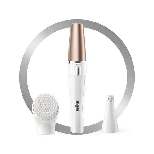 Braun FaceSpa 851V – 3-in-1 Facial epilator, cleansing brush and skin vitalizing