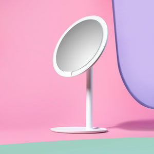 AMIRO LED rechargeable portable Make-up mirror - White