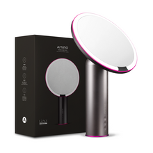 Load image into Gallery viewer, AMIRO O-Series Rechargeable LED Beauty Mirror - Black