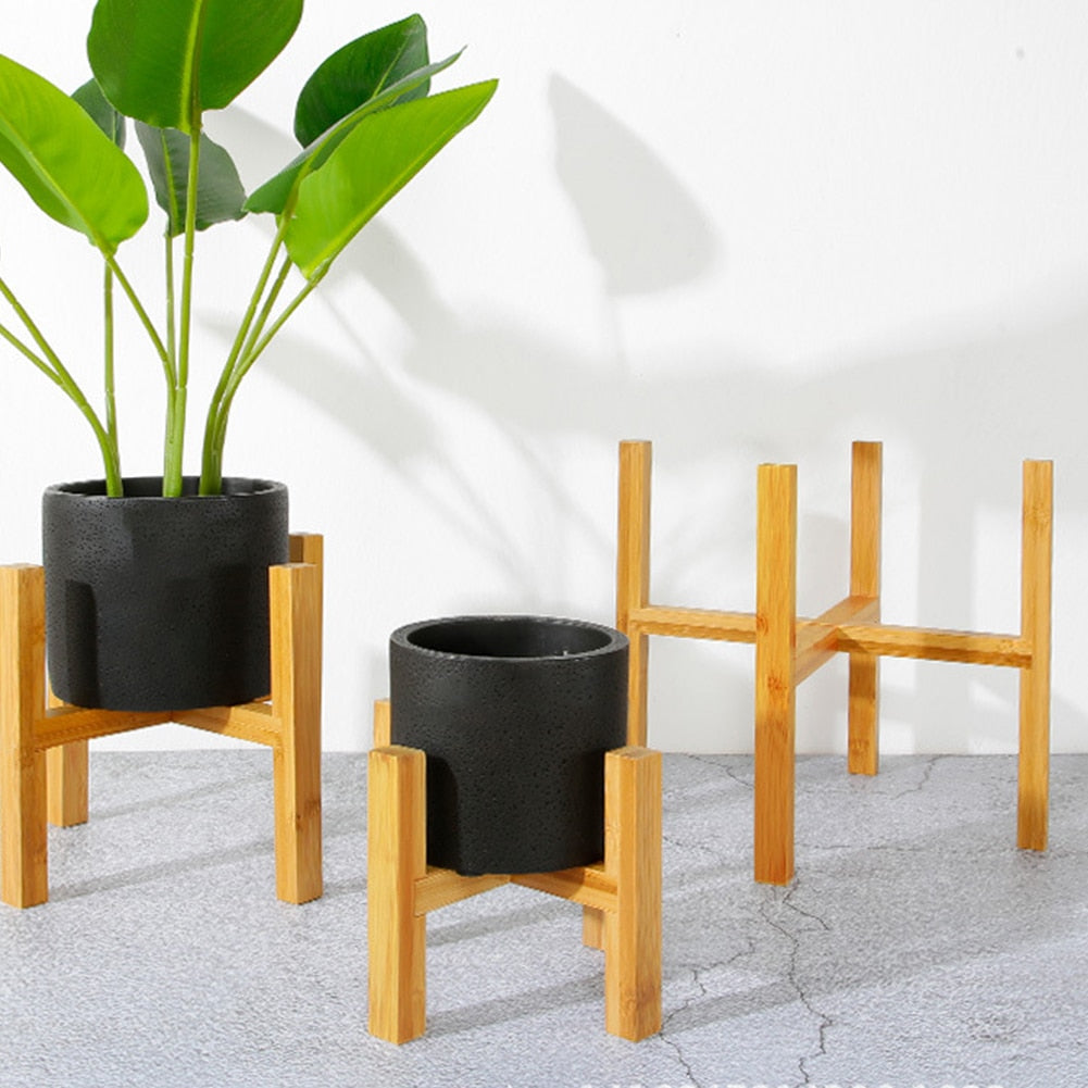 Bamboo pot holder for plants (plant stand) - onesimplecollection