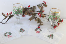 Load image into Gallery viewer, Holiday Cocktail Napkins Set of 4