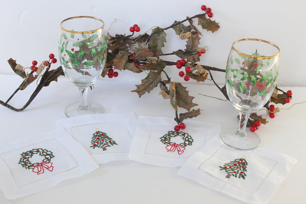 Holiday Cocktail Napkins Set of 4