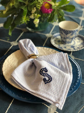 Load image into Gallery viewer, Monogrammed Seersucker Napkins